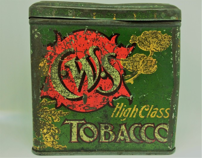 CWS tobacco tin